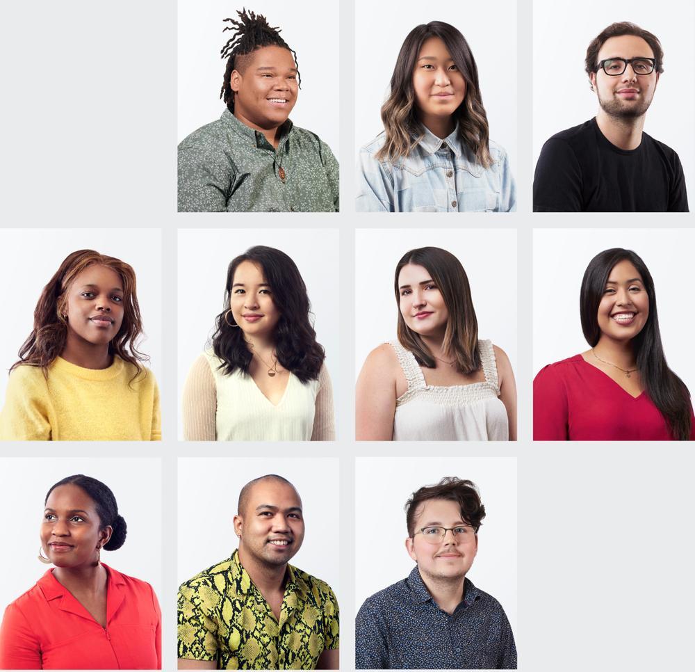Collage de jeunes diplômés en 2020