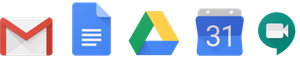 Logos de l'application GoogleWorkspace.